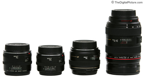 Canon 28mm Lens Size Comparison