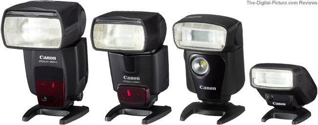 Canon Speedlite 320EX Flash Compared to Other Canon Speedlite Flashes
