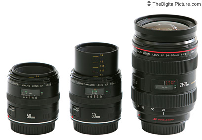 Canon 50mm Macro Lens Size Comparison
