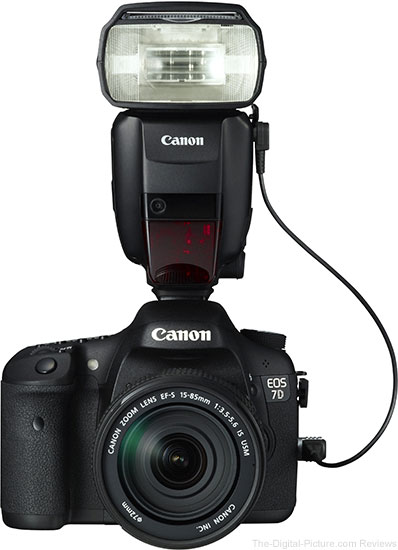 600EX-RT connected to EOS 7D via SR-N3 cable