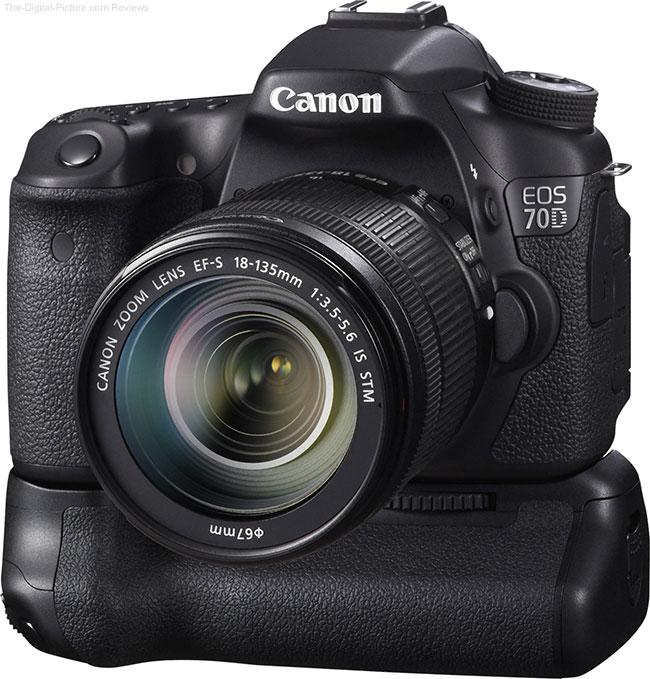 Canon BG-E14 Battery Grip on Canon EOS 70D