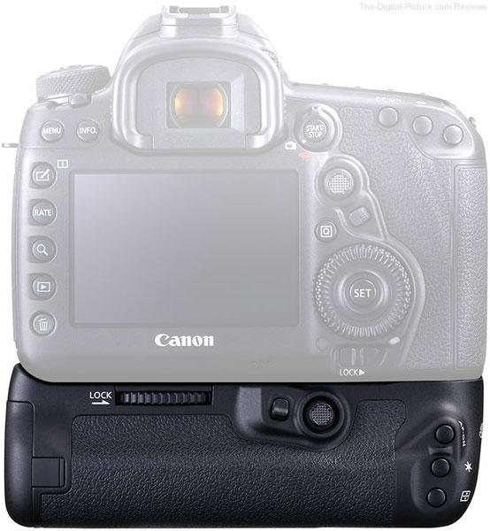 Canon BG-E20 Battery Grip on Canon EOS 5D Mark IV Back View