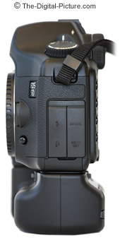 Canon EOS 5D Digital SLR Camera and BG-E4 Side View