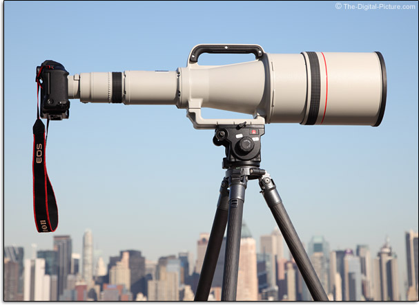 Canon EF 1200mm f/5.6L USM Lens Above City