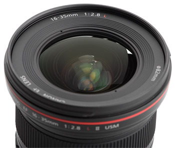 Canon EF 16-35mm f/2.8L USM II Lens Extending