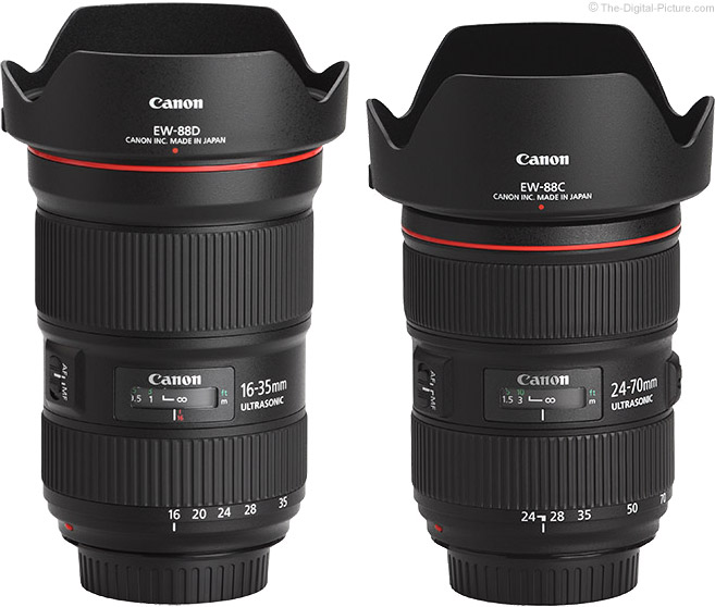 Canon EF 16-35mm f/2.8L III Compared to 24-70mm f/2.8L II Lens Comparison