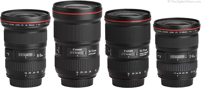 Canon EF 16-35mm f/2.8L III USM Lens Compared to Similar Lenses