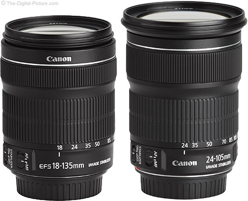 Canon EF 24-105mm IS STM Lens Compared to 18-135mm