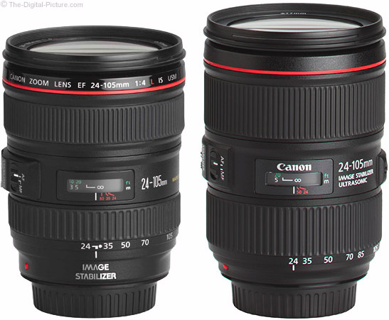 Canon EF 24-105mm f/4L IS I vs. II USM Lens Comparison