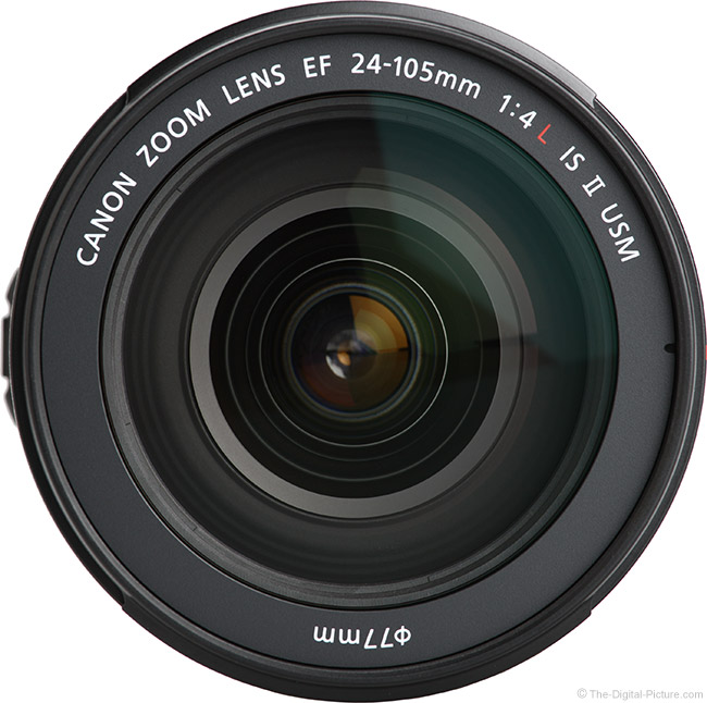 Canon EF 24-105mm f/4L IS II USM Lens Front View