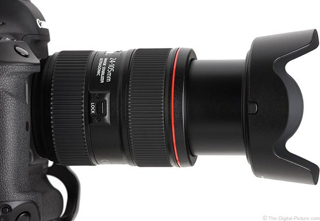 Canon EF 24-105mm f/4L IS II USM Lens Lock Switch