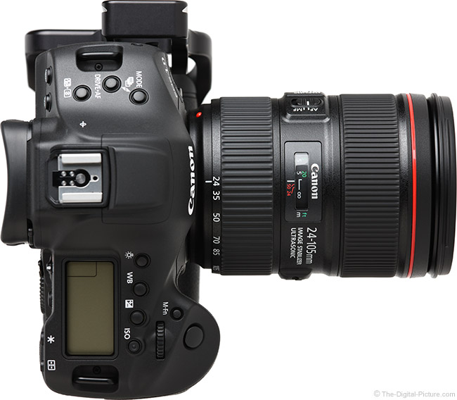 Canon EF 24-105mm f/4L IS II USM Lens Top View