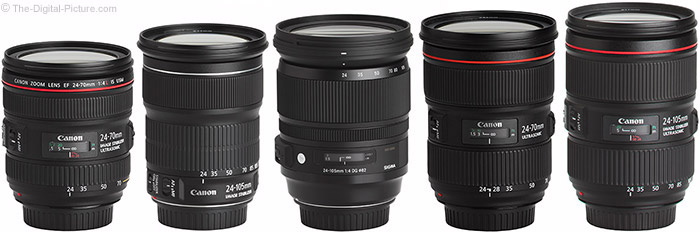 Canon EF 24-105mm f/4L IS II USM Lens Compared to Similar Lenses