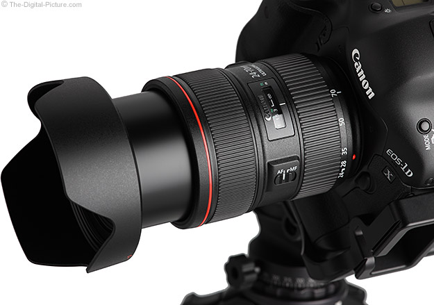 Canon EF 24-70mm f/2.8L II USM Lens Extended on Canon EOS-1D X DSLR