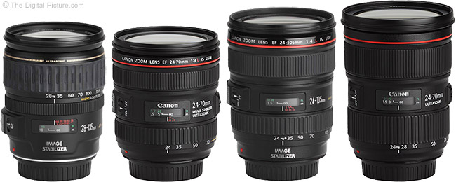 Canon Standard Zoom Lenses Compared