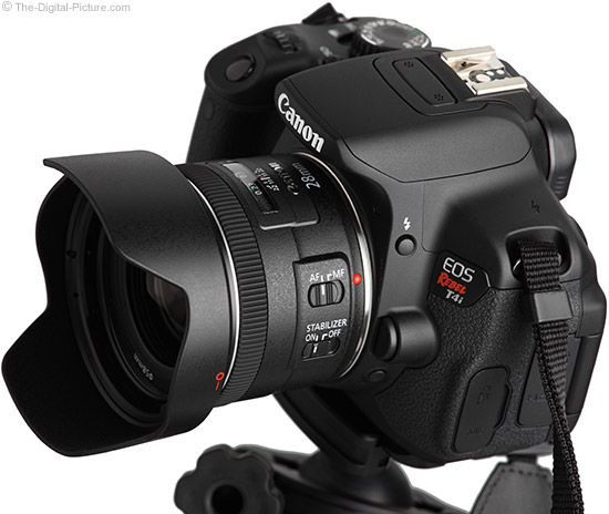 28mm f/2.8 IS Lens on Canon EOS Rebel T4i/650D