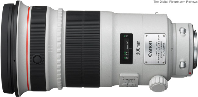 Canon EF 300mm f/2.8L IS II USM Lens Side View