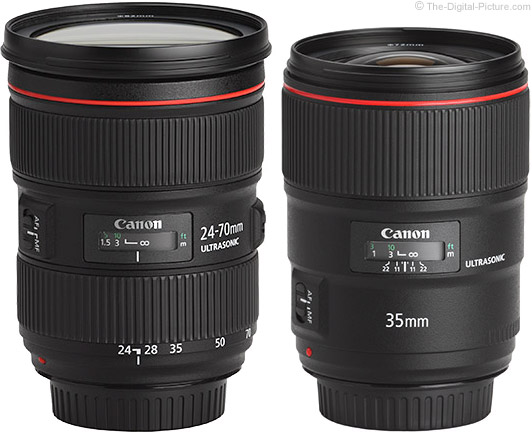Canon EF 35mm f/1.4L II Lens Compared to 24-70mm f/2.8L II Lens