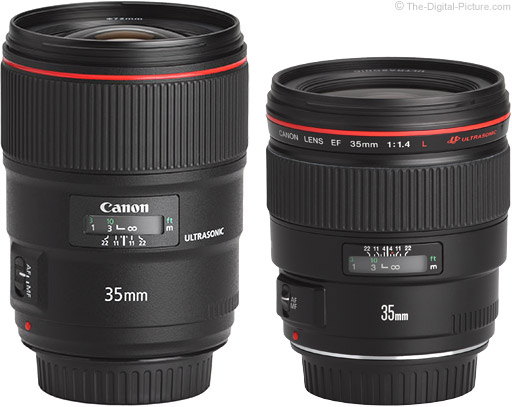 Canon EF 35mm f/1.4L II USM Lens Compared to Version I