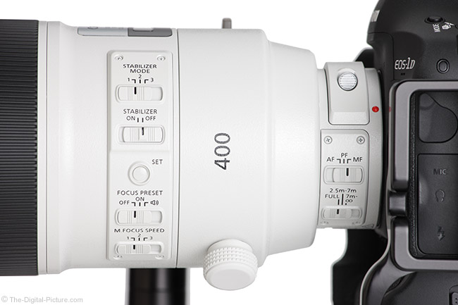 Canon EF 400mm f/2.8L IS III USM Lens Switches