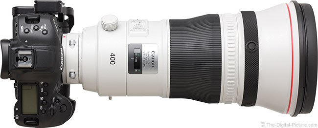 Canon EF 400mm f/2.8L IS III USM Lens Top View