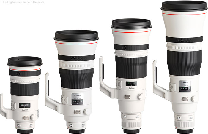 Canon EF 600mm f/4.0L IS III USM Lens Compared to Similar Lenses