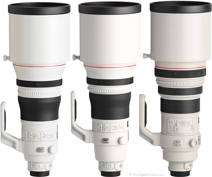 Canon EF 400mm f/2.8L IS Lens Version I, II, and III Comparison