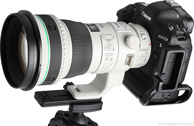 Canon EF 400mm f/4 DO IS II USM Lens Angle View