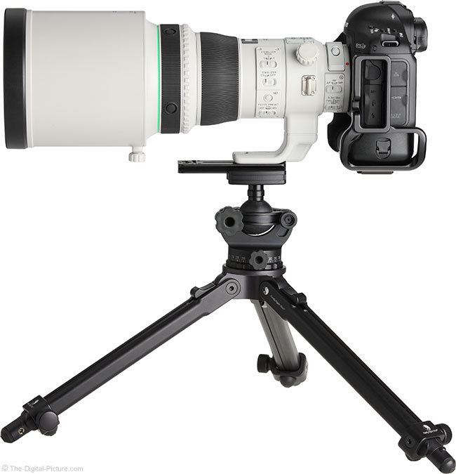 Canon EF 400mm f/4 DO IS II USM Lens Side View with Hood