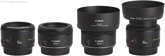 Canon EF 50mm f/1.8 STM Lens Compared to 50mm f/1.8 II Lens