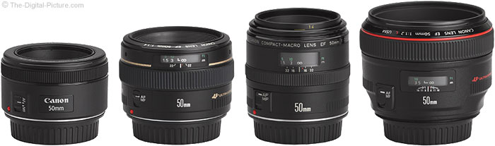 Canon EF 50mm f/1.8 STM Lens Compared to Similar Lenses