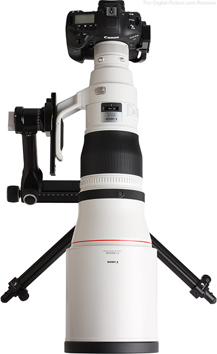 Canon EF 600mm f/4L IS III USM Lens Top View