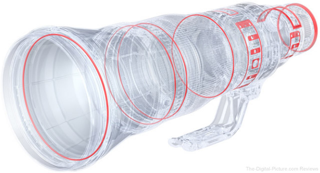 Canon EF 600mm f/4L IS III USM Lens Weather Sealing