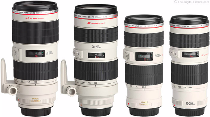 Comparison of Canon EF 70-200mm L Lens Models