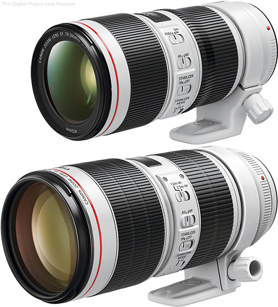 Canon 70-200mm f/2.8L IS III Lens Compared to Canon 70-200mm f/4L IS II Lens