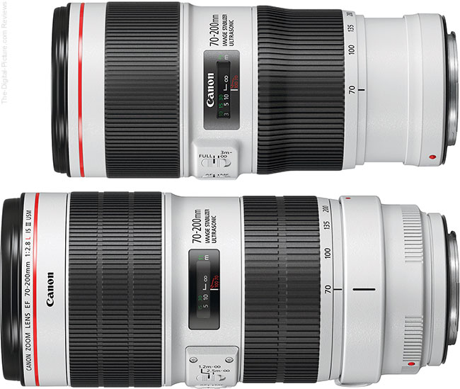 Canon EF 70-200mm f/2.8L IS III USM Lens Compared to Canon EF 70-200mm f/4L IS II USM Lens
