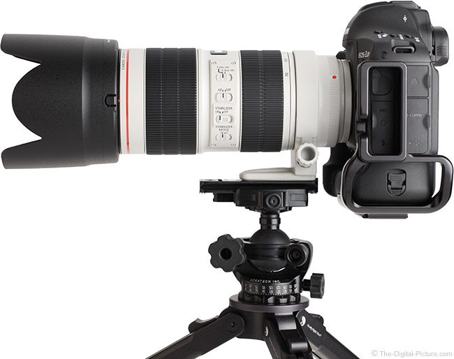 Canon EF 70-200mm f/2.8L IS III USM Lens Side View with Hood