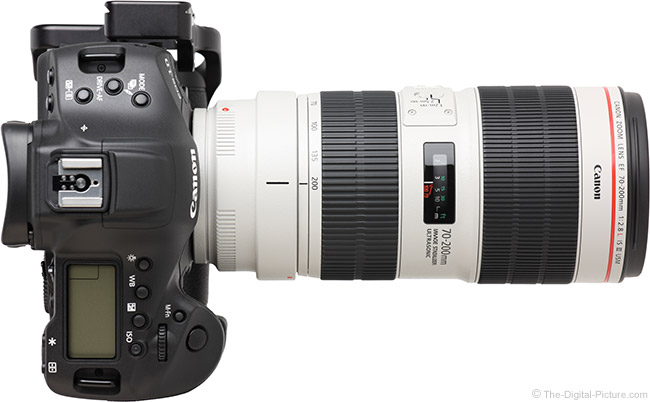Canon EF 70-200mm f/2.8L IS III USM Lens Top View