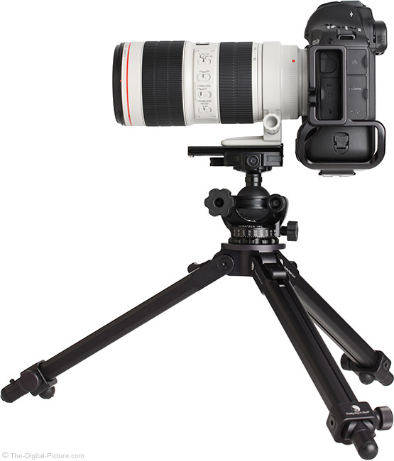 Canon EF 70-200mm f/2.8L IS III USM Lens on Tripod