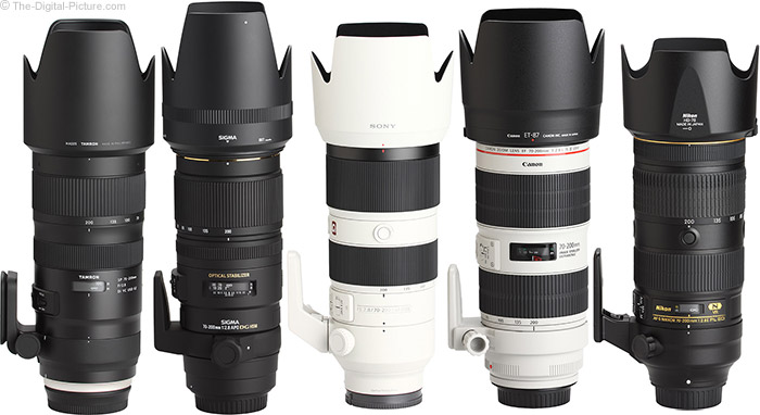 Canon EF 70-200mm f/2.8L IS III USM Lens Compared to Similar Lenses with Hoods