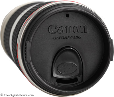 Canon EF 70-200mm f/4.0 L USM Lens Mug Shown With a Wide Open Aperture