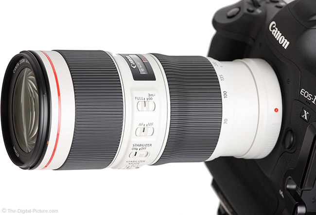 Canon EF 70-200mm f/4L IS II USM Lens Angle View Close
