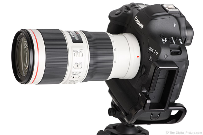 Canon EF 70-200mm f/4L IS II USM Lens Angle View