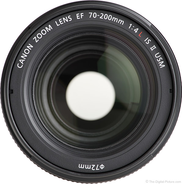 Canon EF 70-200mm f/4L IS II USM Lens Front View