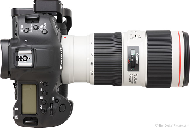 Canon EF 70-200mm f/4L IS II USM Lens Top View