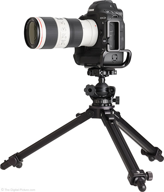 Canon EF 70-200mm f/4L IS II USM Lens on Tripod