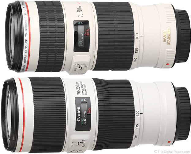 Canon EF 70-200mm f/4L IS II USM Lens Comparison New vs. Old