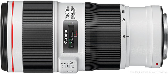 Canon EF 70-200mm f/4L IS II USM Lens Side View