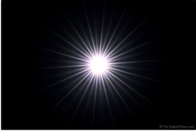 Canon EF 70-200mm f/4L IS II USM Lens Starburst Effect Example