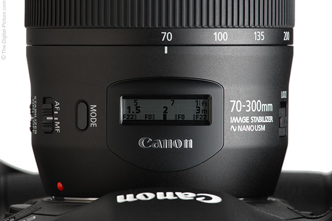 Canon EF 70-300mm f/4-5.6 IS II USM Lens LCD